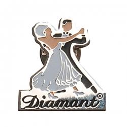 Diamant Zilverkleurige Broche HW07966
