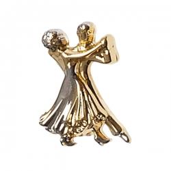 Diamant Broche van Dansend Paar HW07972
